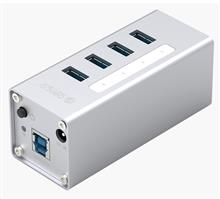 ORICO A3H4-U3-V2 Aluminum Alloy 4Port USB3.0 HUB with BC1.2 Charger